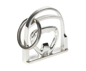 Porte-clés décapsuleur Inox, Argenté - L10