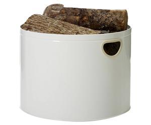 Panier à bois Inox, Blanc - Ø44