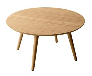 Table basse bambou, Naturel - Ø85