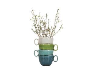 Pot à fleurs Terre cuite, Multicolore - L17