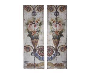 2 Panneaux décoratifs Bois, Multicolore - 42*128