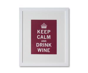 Estampe sur papier et cadre drink wine - 25*30