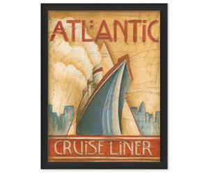 Tableau Atlantique Cruise Liner, Papier d'archivage - L30