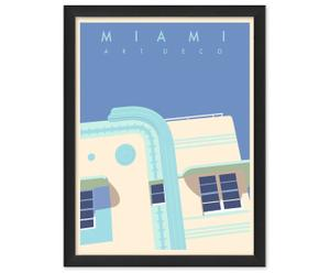Tableau Miami Art deco, Papier d'archivage - L30