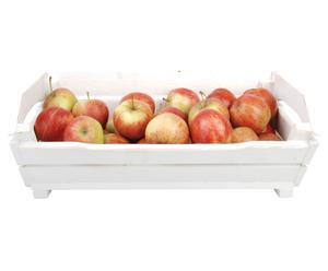 Panier à fruits bois, blanc – L47