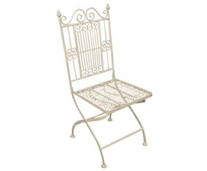 Chaise Fer Forge Creme