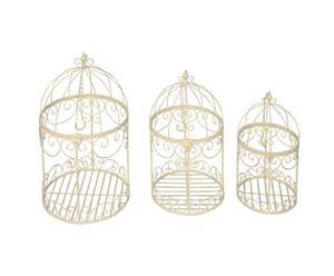 3 Cages décoratives à suspendre, Fer
