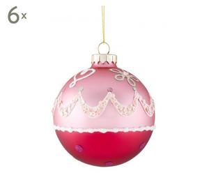 6 Boules de Noël I, Verre - Ø9