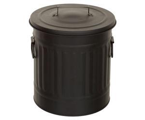 1 Poubelle Zinc, Noir - Ø34