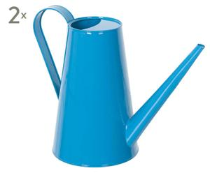 2 Arrosoirs Zinc, Bleu - H24