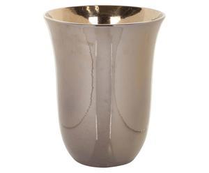 Vase décoratif Grès, Doré - H28