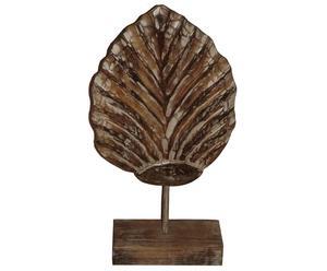 Sculpture Feuille  Bois, Brun - H60