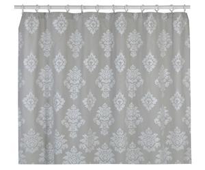 Rideau de bain coton, gris et argenté - 183*183