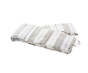 Tour de lit CREAM STRIPES, coton – 25*250
