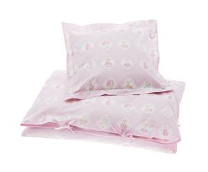 1 Housse de couette et 1 Taie d'oreiller Pink Teddy, coton – 100*140