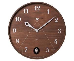 Horloge avec coucou PACE bois, Brun et argenté - Ø31