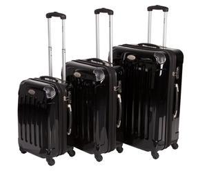 3 Valises chariot Polycarbonate - Noir