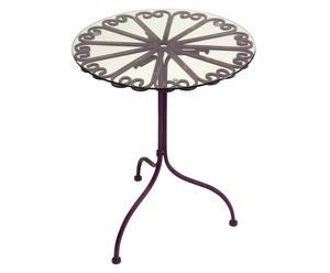 Table, fer et verre - Ø61