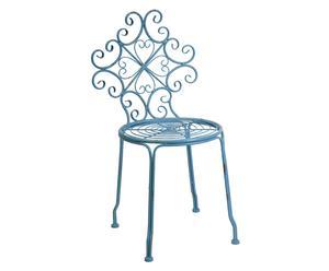 Chaise fer, bleu - H81
