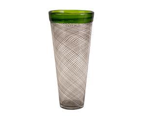 Vase Verre, Gris et vert – H42