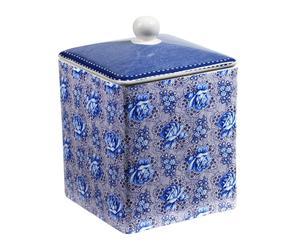 Pot Céramique FLOWER, Bleu et blanc - 13*13