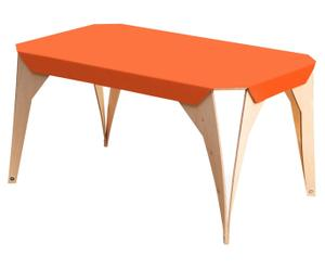 Table basse Bouleau, Orange et Naturel - L85