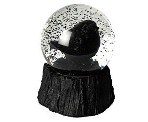 Boule à neige à oiseau Résine, Noir - H12