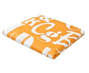Nappe coton, Orange et blanc -  150*250