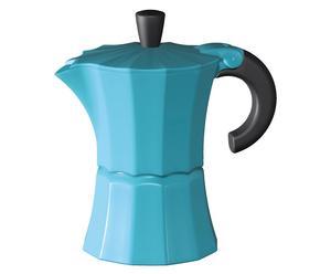 Cafetière Aluminium et silicone, Bleu -  H21