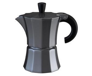 Cafetière Aluminium et silicone, Gris anthracite métallisé -  H16