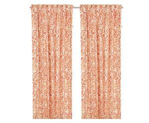 2 Rideaux MUOI Coton, Orange - 245*140