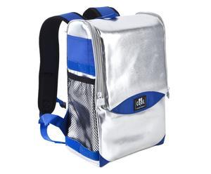 Sac à dos isotherme PVC, Argenté et bleu - L35