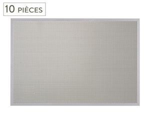 Tableau magnétique Métal et liège, Gris -  L60