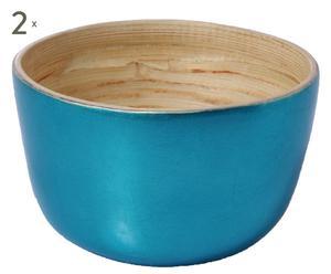 2 Bols Bambou, Turquoise - Ø15