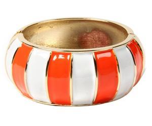 Bracelet Equilibrium, Laiton - Doré, orange et blanc
