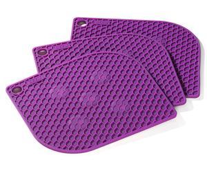 3 Dessous de plat 3 en 1 Plastique, Violet - L20