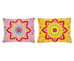 2 Housses de coussin, Coton - Multicolore