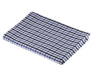 Nappe Vichy Coton, Bleu foncé et violet - 140*140