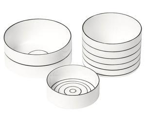 3 Coupelles, Porcelaine - Noir et blanc