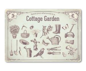 Plaque cottage garden aluminium, multicolore - 59*41