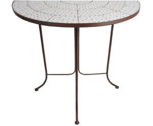 Table de jardin Métal et céramique, Marron et multicolore - H76