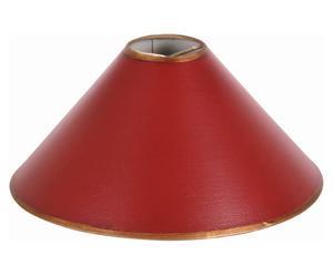 Abat-jour Tiffany Carton, Rouge et doré - H18