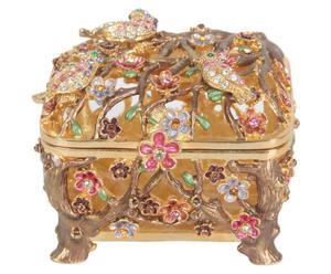 Boîte Métal et cristal Swarovski, Multicolore – L6