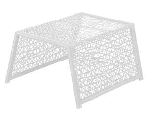 Tabouret Plastique, Blanc - L65