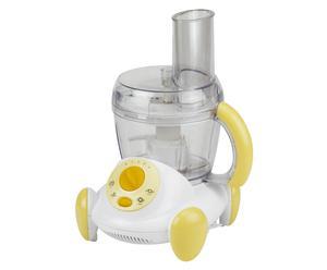 Robot 3-en-1 acier et plastique, jaune et blanc - H22