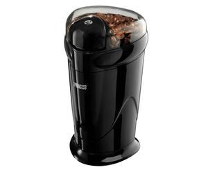 Moulin à café électrique plastique et inox, noir et transparent - H18
