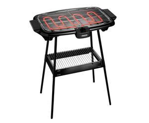 Grill et barbecue électrique, métal et plastique - noir