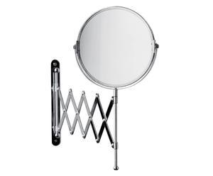 Miroir de maquillage pivotant Métal, Argenté - H36