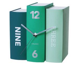 Horloge à poser Carton, bleu et vert - 20*20