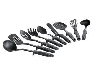 Accessoires de cuisine, plastique - noir et gris
